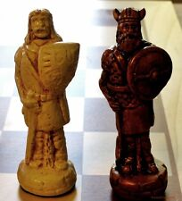 VIKINGS VS. CELTS CHESS MEN - 10TH C. BATTLE - HAND MADE SET (maple) 589