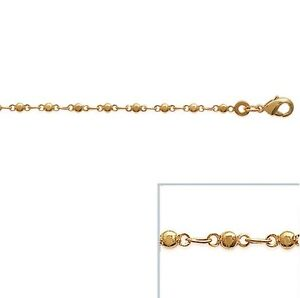 Chevillière Chain Ankle Gold Plated Mesh Ball New