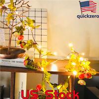 2M 30LEDs LED Flower Leaves Vine Garland String Light Wedding Home Hanging Decor