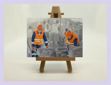 ACEO Original ' Men at Work! '  by Professional Artist Chris Bull