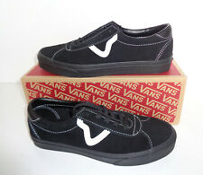 VANS Mens Sport Trainers Black Suede Skate Casual Shoes New RRP £80 UK Size 8