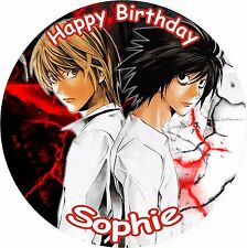"DEATH NOTE 8"" BIRTHDAY ICING CAKE TOPPER"