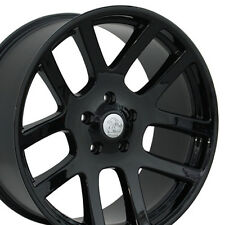 "22"" Black Wheels For Dodge Ram 1500 Dakota Durango Chrysler Aspen Rims Set Of 4"