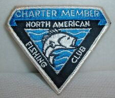 North American Fishing Club Charter Member Embroidered Patch - Unused