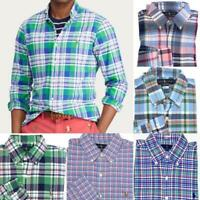 Men's Polo Ralph Lauren Long Sleeve Classic Fit Button Down Oxford Plaid Shirt
