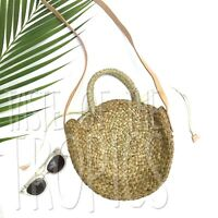 Woven Straw Bag // Round Purse similar to Clare V. Petite Maison Bag Alice Tote