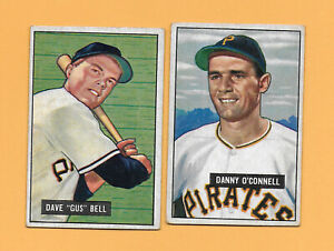 1951 Bowman LOT OF 2 Pittsburgh Pirates COME SEE WHAT YOU THINK!