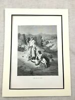 Original Viktorianisches Aufdruck Tobias And The Angel Erzengel Raphael Gravur