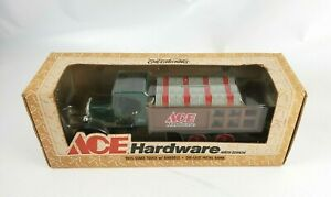 NOS Ace Hardware 1925 Stake Truck w/ Barrels Coin Bank 1:25 Scale 1997