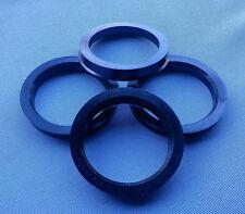 (1092) 4 Stück  Zentrierringe 68,1 / 54,1 mm schwarz für Alufelgen