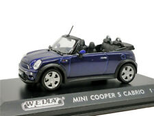 Welly 1:43 Mini Cooper S Cabrio Blue Diecast Model Car