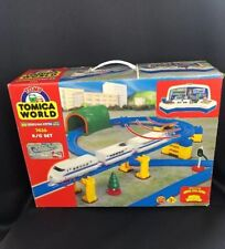 NEW IN BOX Vintage TOMY Tomica World Road & Rail System R/C Train Set 7436 RARE