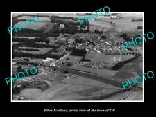 OLD LARGE HISTORIC PHOTO OF ELLON SCOTLAND AERIAL VIEW OF TOWN c1950