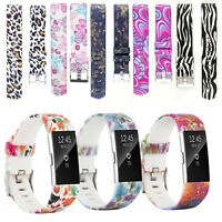Pattern Bands for Fitbit Charge 2 Strap Secure  Buckle Replacement Wristband