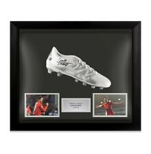 Framed Luis Suarez Signed Football Boot - Liverpool Autograph Cleat