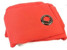 Karma Cotton Blend Grommet Curtain Panels Set of 2 54x95  Red