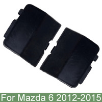 2pcs Car Rear Bumper Towing Hook Cover Eye Caps Trim Black For Mazda 6 2012-2015
