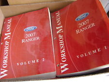 FORD WORKSHOP MANUALS VOL. 1 & 2 2007 FORD RANGER P/U FACTORY OEM REPAIR MANUALS