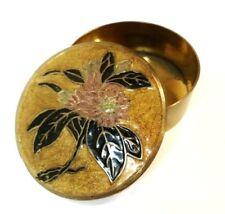 Antique Art Nouveau A. Dellaux Enamaled Cloisonne' Brass Lidded Trinket Box