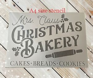 Merry Christmas Stencil,farmhouse Christmas,Christmas Bakery Sign,Christmas Tree