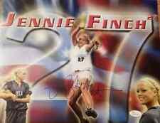 Jennie Finch Autographed 11X14  PHOTO USA Olympic SOFTBALL, JSA SIGNED
