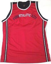 FuBu Athletics XC11 basketball jersey men sz 2XL red/black vintage 90s hip-hop