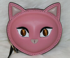 NWT! KATE SPADE x Cats Meow Cat Leather Coin Case Pouch Pink Limited Edition