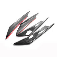 Glossy Carbon Car Front Bumper Fin Canard Splitter Spoiler Lip fit for Honda BMW