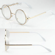 4fca9da8978 New John Lennon Round Fashion Clear Lens Glasses White Frame Hipster  Steampunk