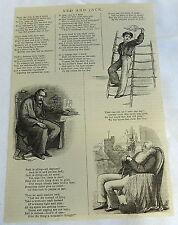 1882 magazine engraving ~ NED & JACK poem