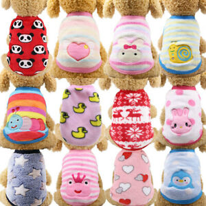 Cartoon Small Dog Clothes Pet Puppy Cute Vest Dog Cat Apparel 19 Colors XXS-XL