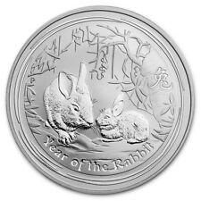 2011 Australian Perth Mint Lunar Year of the Rabbit 1oz .999 Silver Coin #I