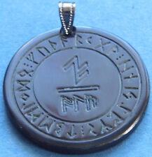Amuleto Corno Formula di protezione ALLUMINIO in Cerchio di rune