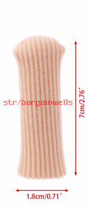 Small Fabric Lined Gel Toe Cap Protector. Painful Toes/Corns/Clawed/Hammer Toes