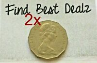 ⚡2x 1972 Coat of Arms 50 Cent Coin🇦🇺Low Mintage 50c Key Date Scarce📮FREE Post