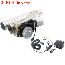 "Universal 2"" INCH 51mm New Electric Exhaust Cutout Y-Pipe Valve Kit + Remote"