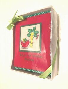 "Sunshine Baby Baby's Christmas Red Green Photos Album Holds 100 4"" X 6"" New NIB"