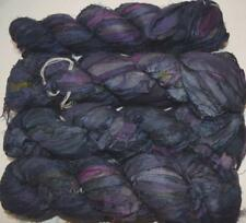 100g Sari Silk Ribbon craft ribbon, jewelry making almost black purplish