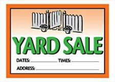 Hillman Yard Sale with Fill In for Date Time and Address, Plastic Sign (X9754*K)