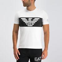 EA7 Emporio Armani Mens Logo Crew Neck T Shirt- White