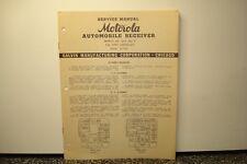 MOTOROLA SERVICE MANUAL AUTOMOBILE RECEIVER RADIO MODEL 26C 26C-7 1940 CHEVROLET
