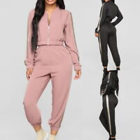 Women's 2Pcs Tracksuit Casual Sports Hoodie Sweatshirt Wear Pants Sweat Suit MAL