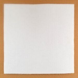 """Felt - White - 1/2"""" Thick - 12"""" x 12"""" - Pack of 1 (E35)"""