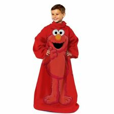 Sesame Street Elmo Youth Snuggy Comfy Throw Blanket Fleece With Sleeves NEW