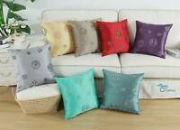 Square Pillows Throw Covers Cushions Circles Chain Embroidery Geometric 18 x 18""