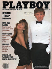 Playboy magazine March 1990 Donald Trump mens adult glamour magazine