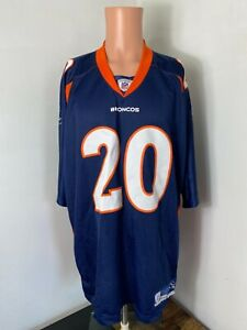 Vintage Reebok NFL Denver Broncos home #20 Brian Dawkins football jersey sz 2XL