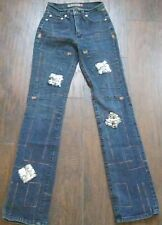 GIRLS/Junior PEPE JEANS Size 24/32 Denim London SEQUENCE Cool Embroidery