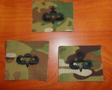 U.S. ARMY parachute BADGE,I COMBAT JUMP STAR CLOTH ON MULTICAM, SET OF 3