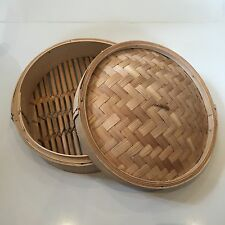 Stunning Antique Chinese Bamboo Woven Steamer / Storage Box Excellent Condition